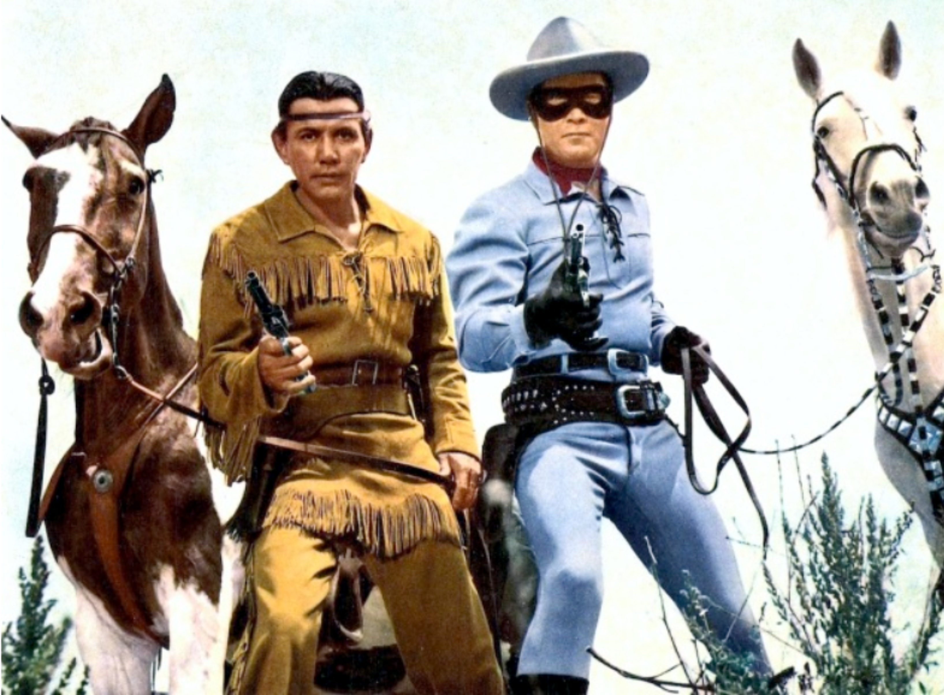 lone ranger and tonto The lone ranger, played by clayton moore, right, and his native american  partner, tonto, played by jay silverheels, pose with their trusty.