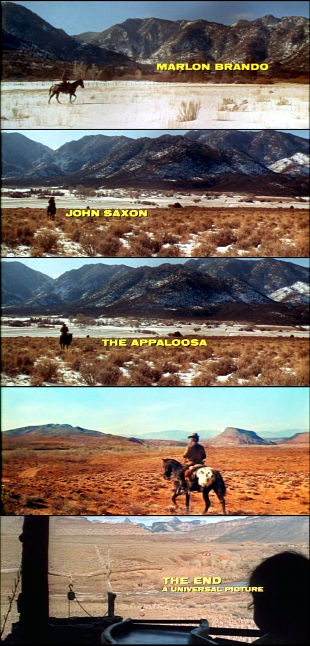 The Appaloosa Opening Screens