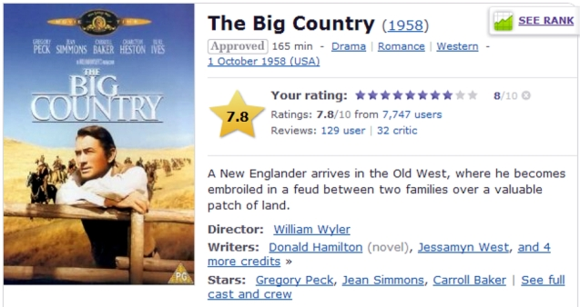 The Big Country on Internet Movie DataBase