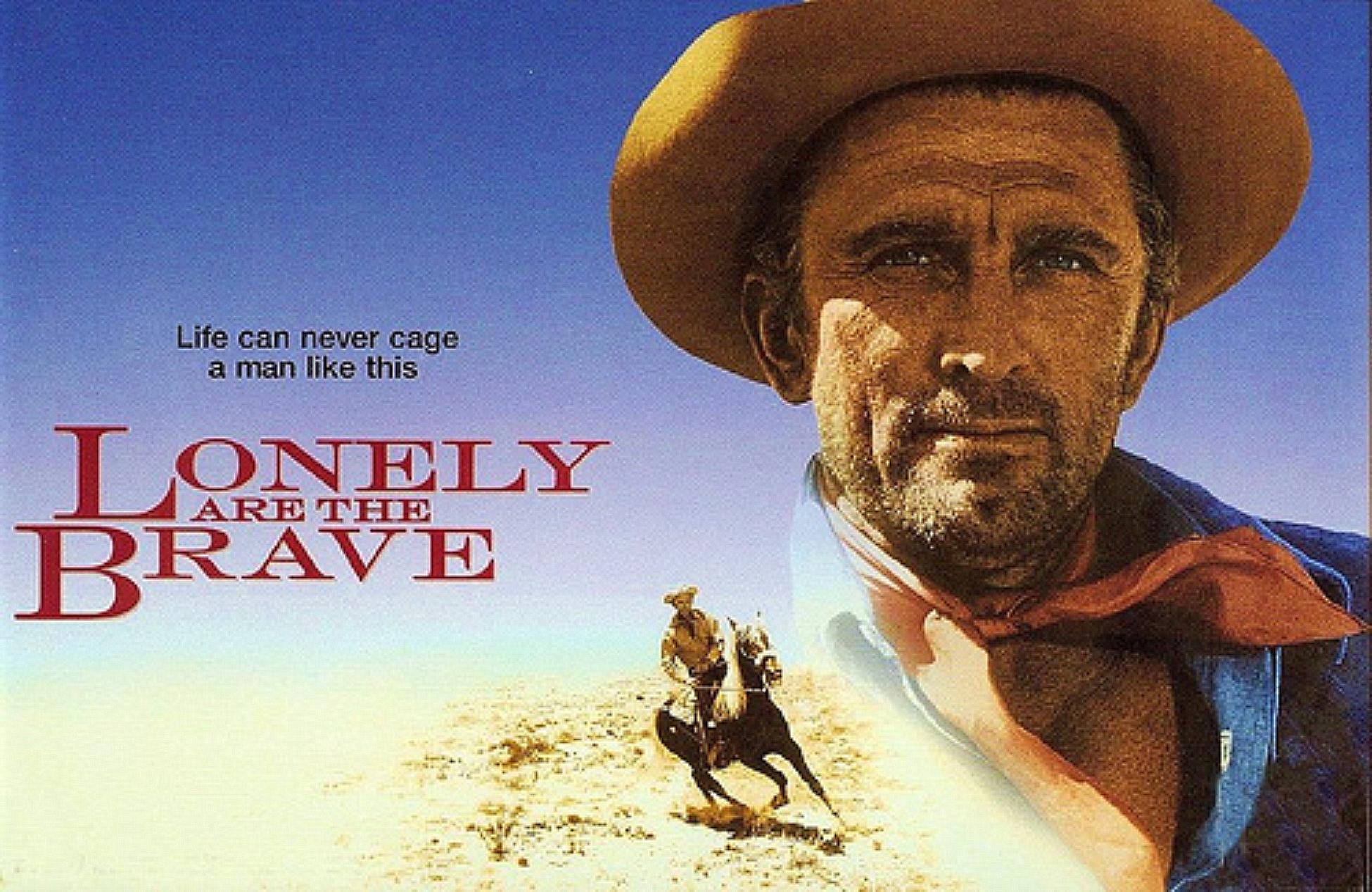 Resultat d'imatges de lonely are the brave original poster