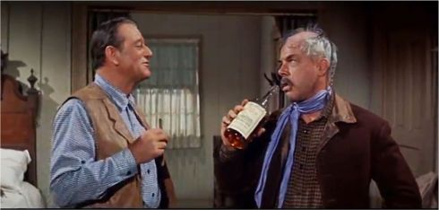 A Western actors dream - a scene - and a drink with the Duke