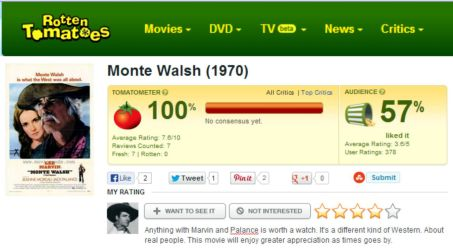 Monte Walsh Rotten Tomatoes