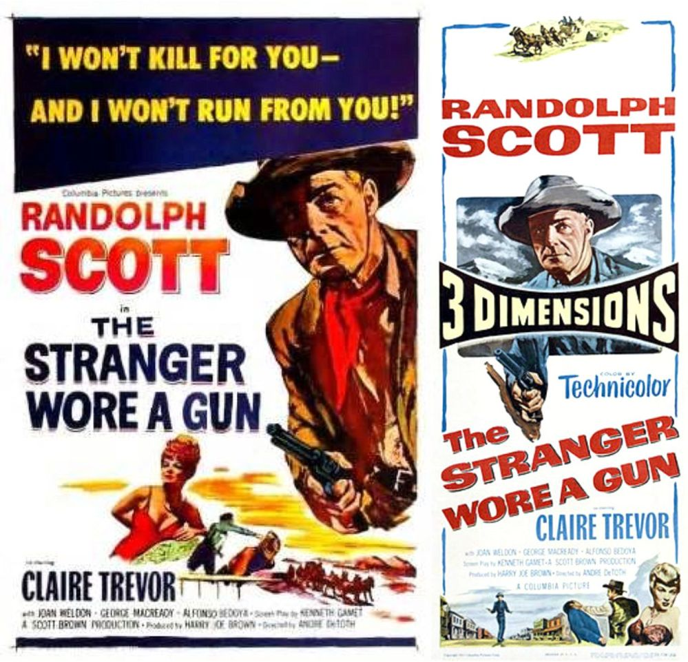 The Stranger Wore a Gun posters 1953