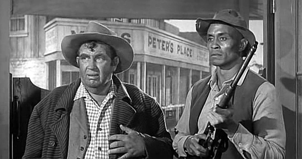 The Man Who Shot Liberty Valance - Andy Devine and Woody Strode