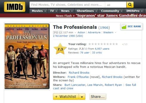 The Professionals IMDB review