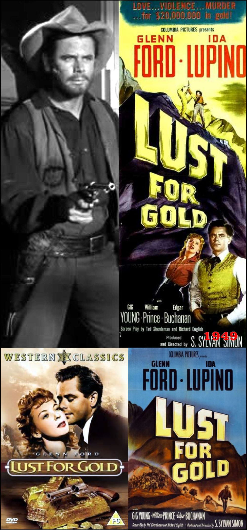 glenn ford posters lust for gold