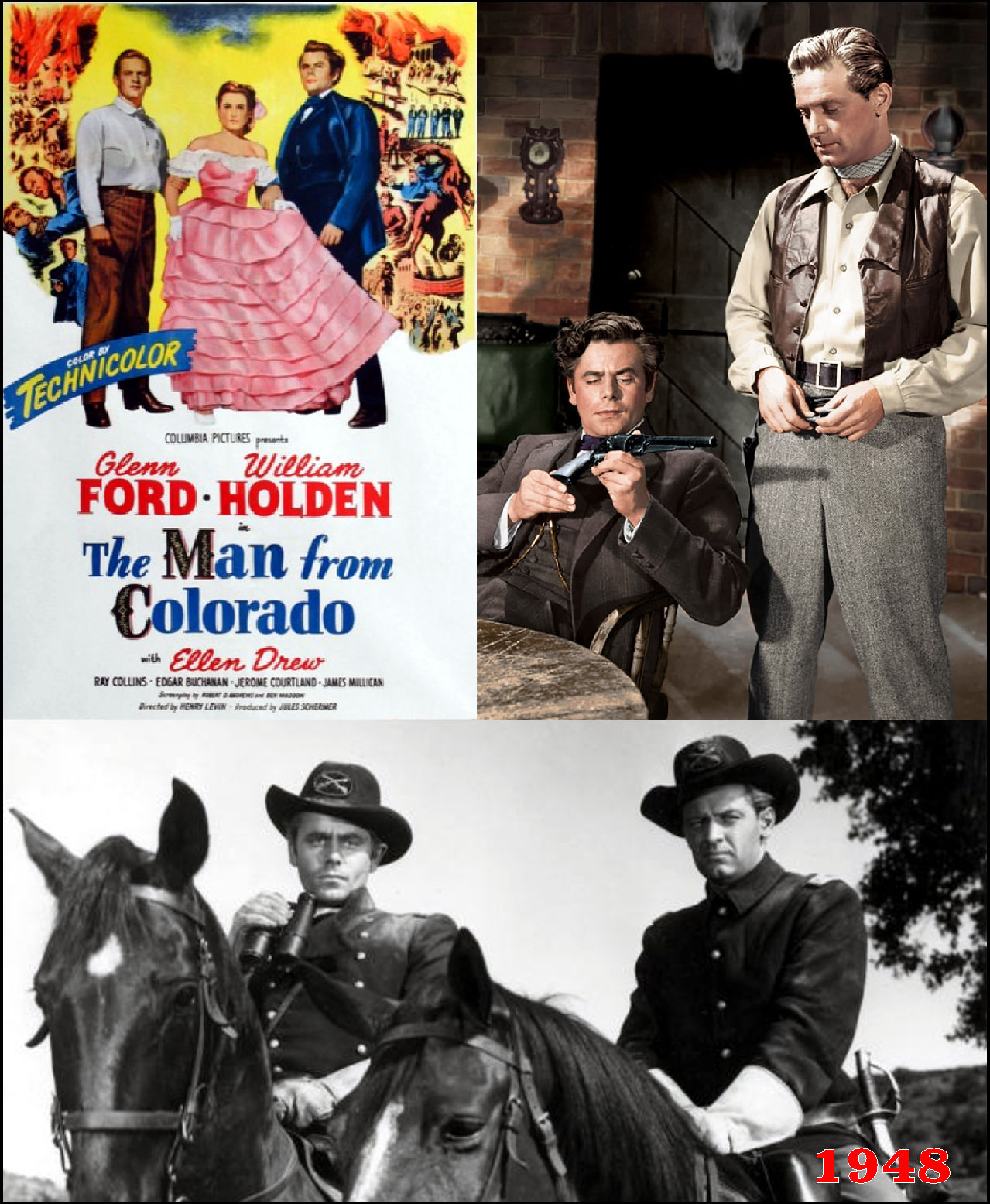 Glenn Ford Westerns The Man From Colorado 1948