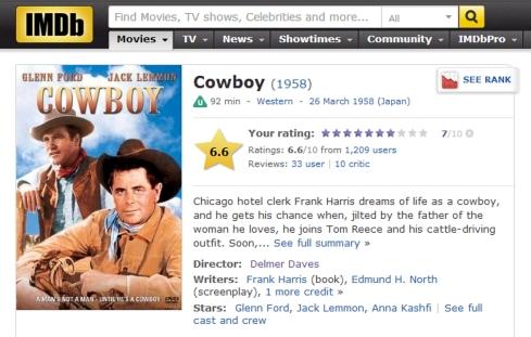 COWBOY IMDB review