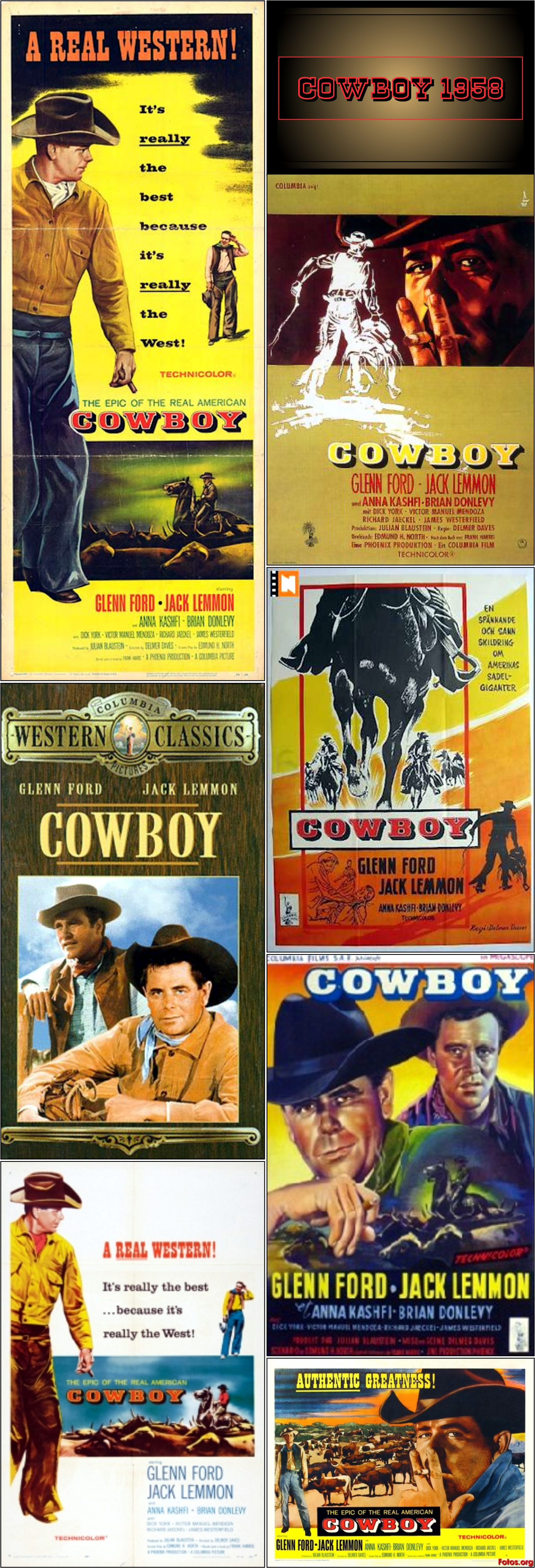 Authentic western movie posters