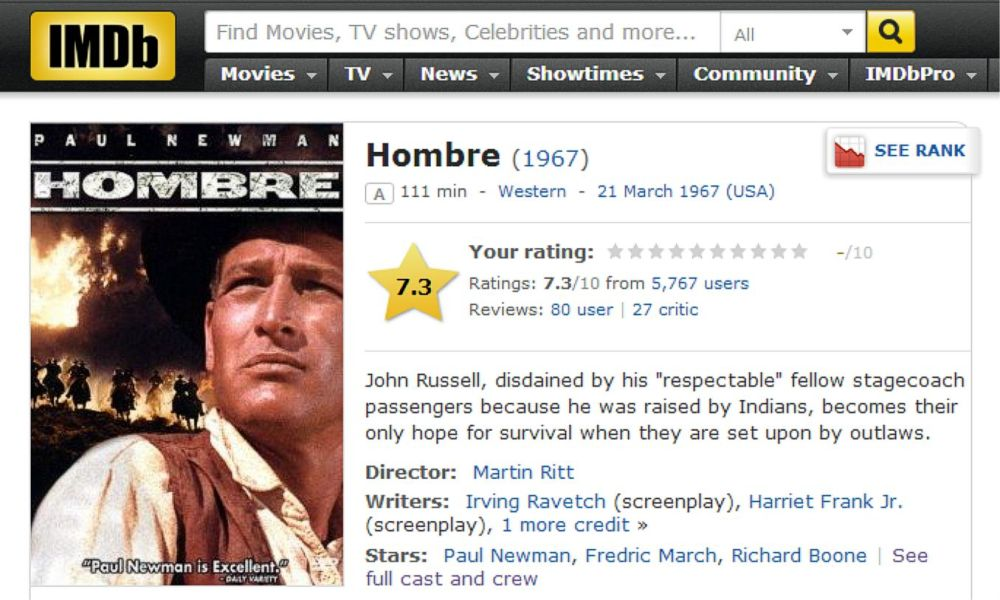 Hombre IMDB Review