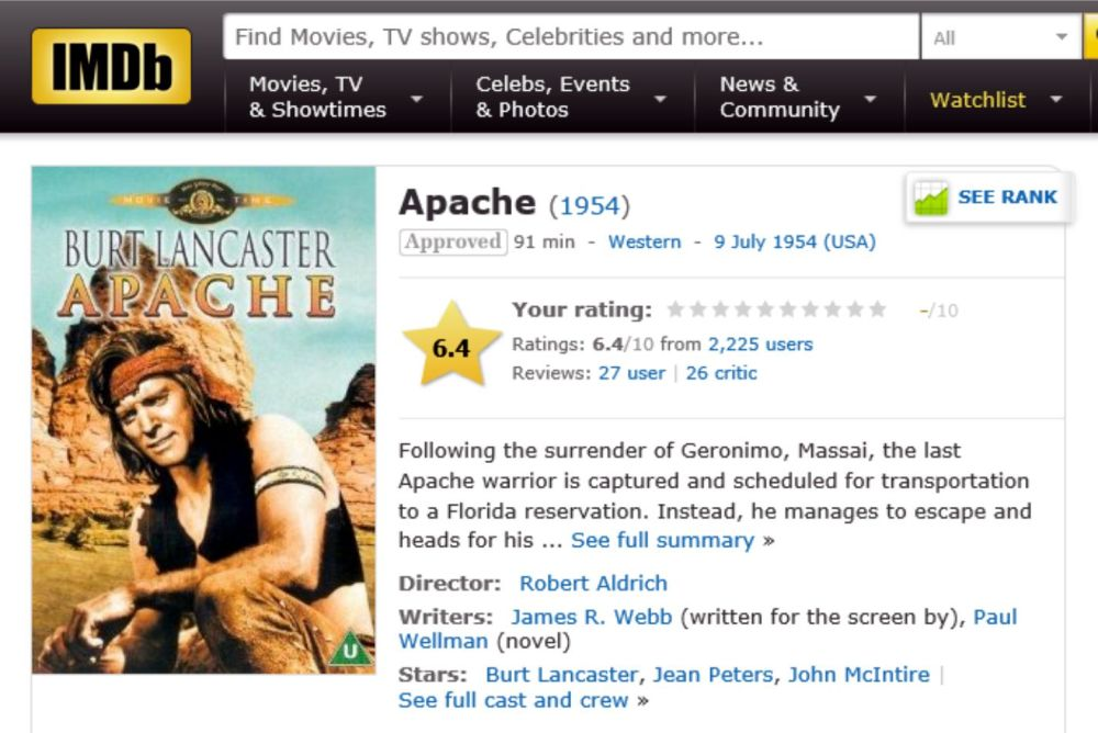 APACHE IMDB