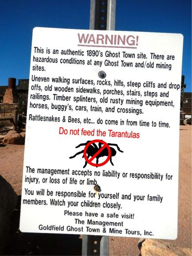 Goldfield Ghosttown sign
