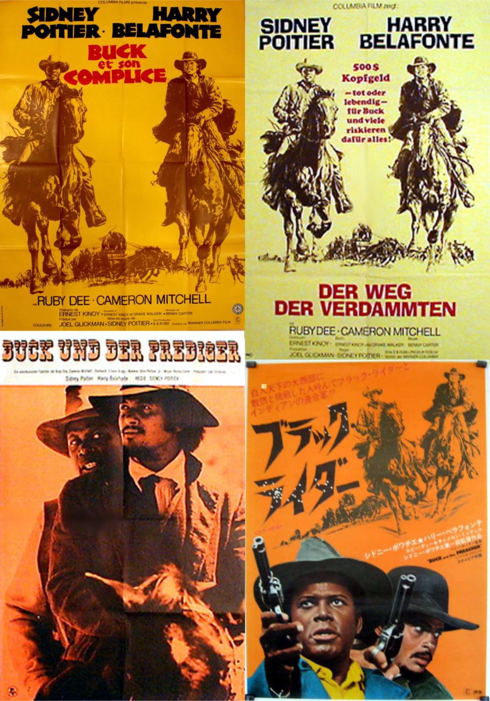 Buck and the Preacher posters 3