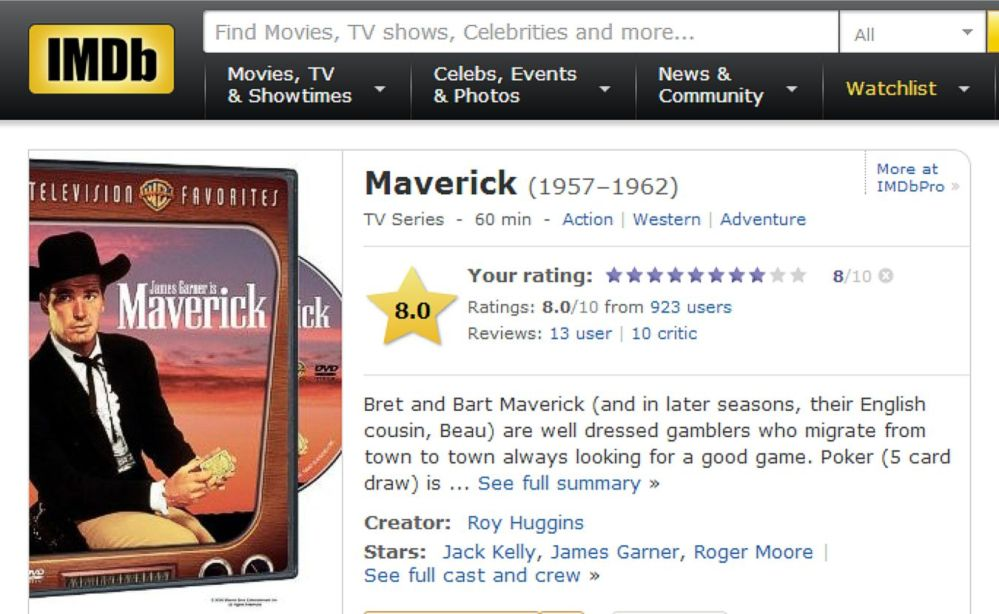 Maverick IMDB