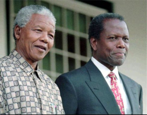Nelson Mandela and Sydney Portier