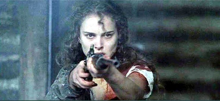 Portman with a gun