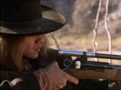 Alexis Cruz with Model 1889 Schmidt-Rubin rifle
