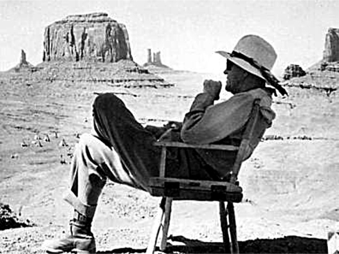 John Ford at John Ford's Point - Monument Valley