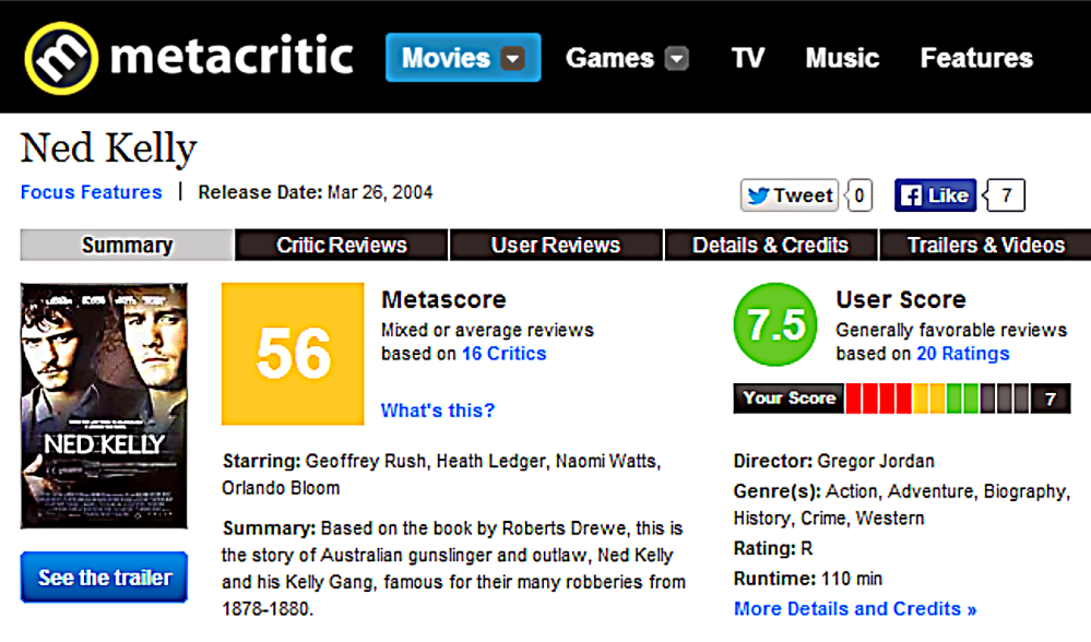 Metacritic review