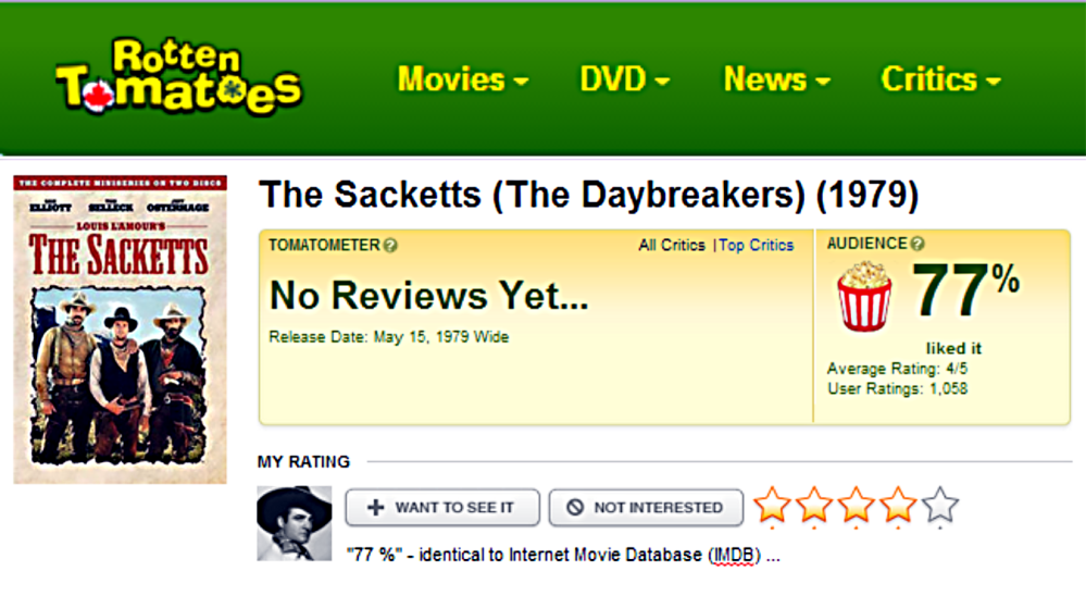 The Sacketts Rotten Tomatoes review