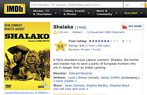 Shalako review IMDB