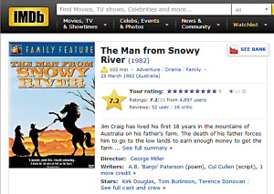 The Man from Snowy River review imdb