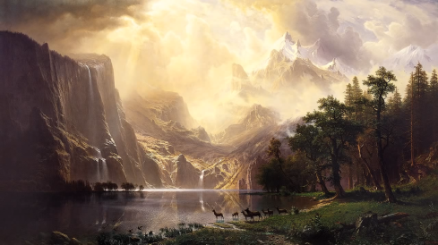 Albert Bierstadt, Among the Sierra Nevada Mountains