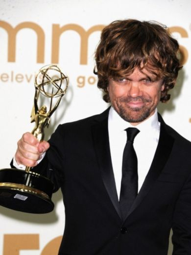 Dinklage with Emmy