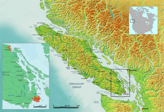 VANCOUVER ISLAND map