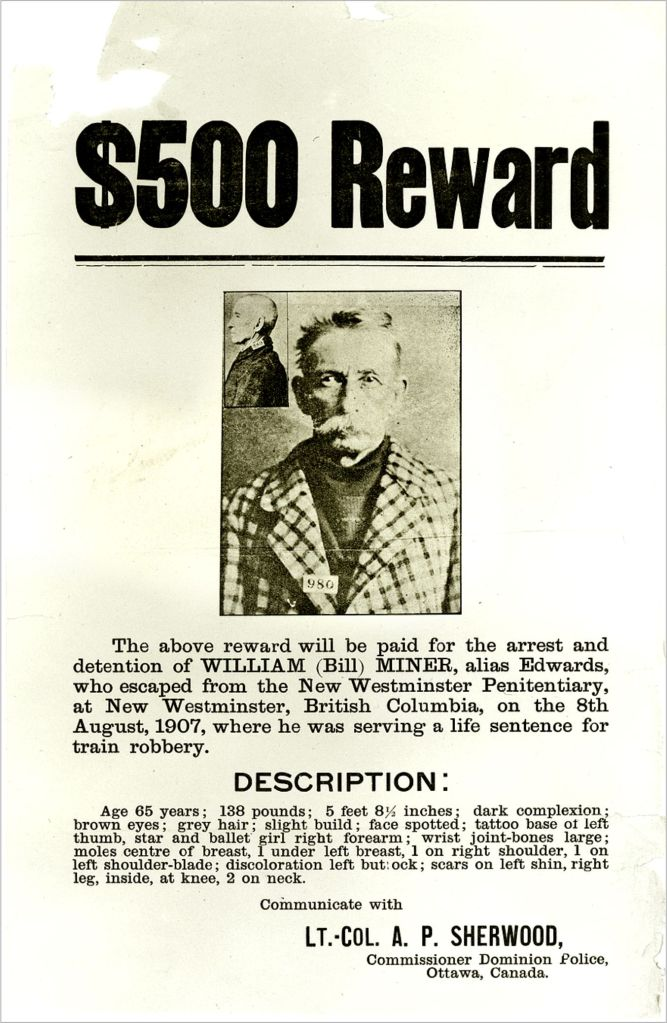 BILLY MINER Wanted Poster