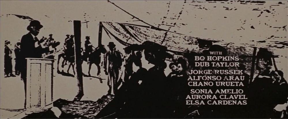 The Wild Bunch Corel screen 8 opening credits