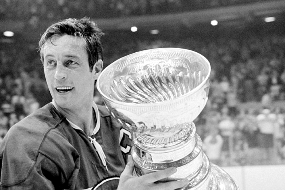 Jean Beliveau and The Stanley Cup