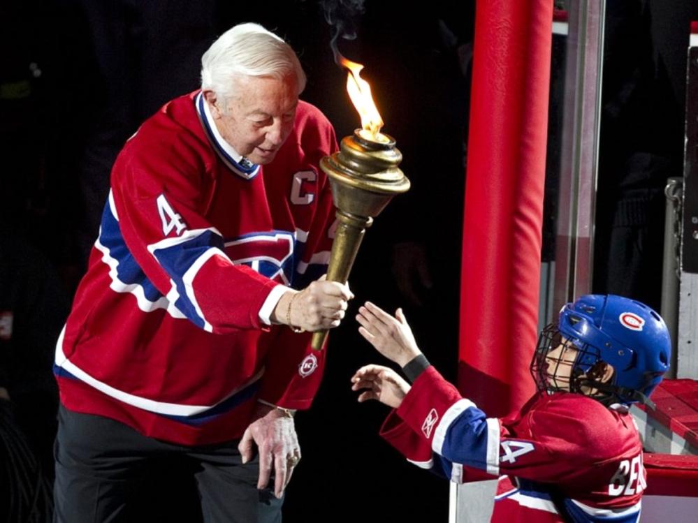 Jean Beliveau passes the torch ...