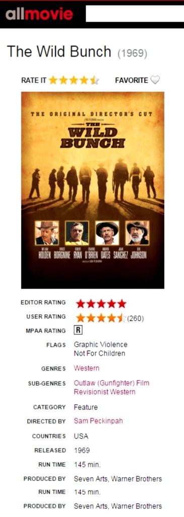 The Wild Bunch AllMovie Review