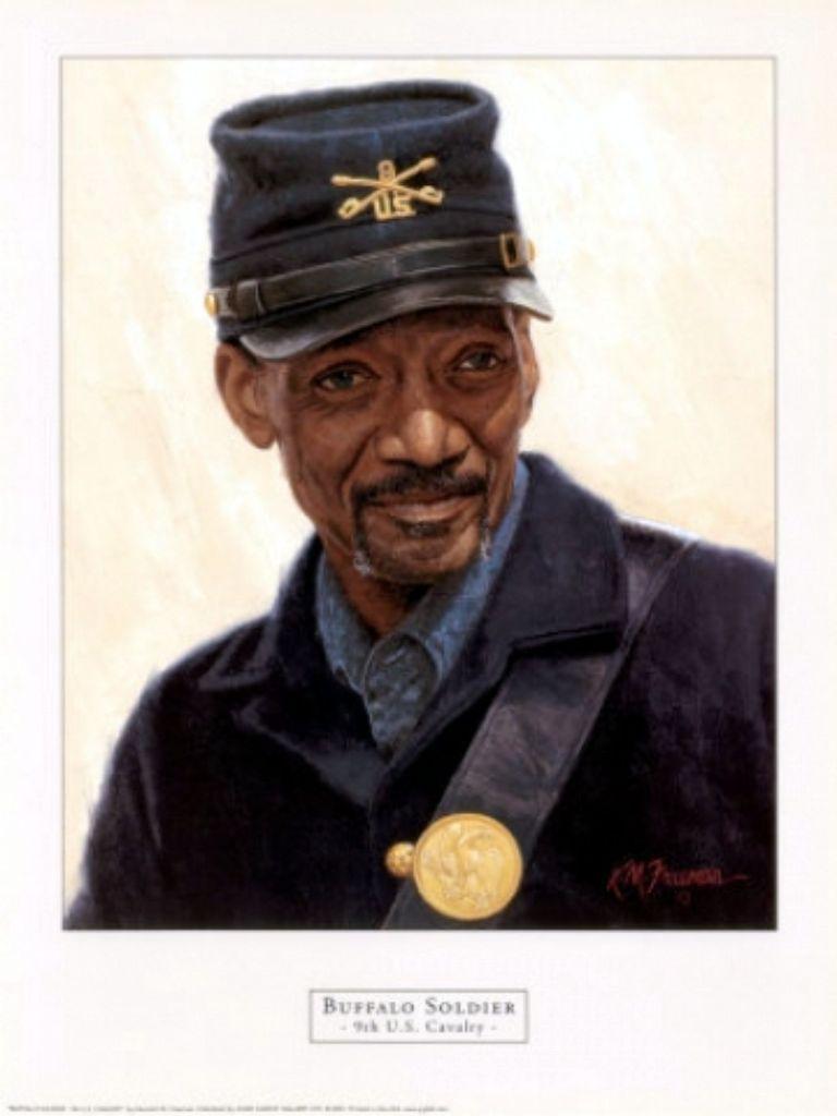 Buffalo Soldier - 9th U.S. Cavalry - by Freeman