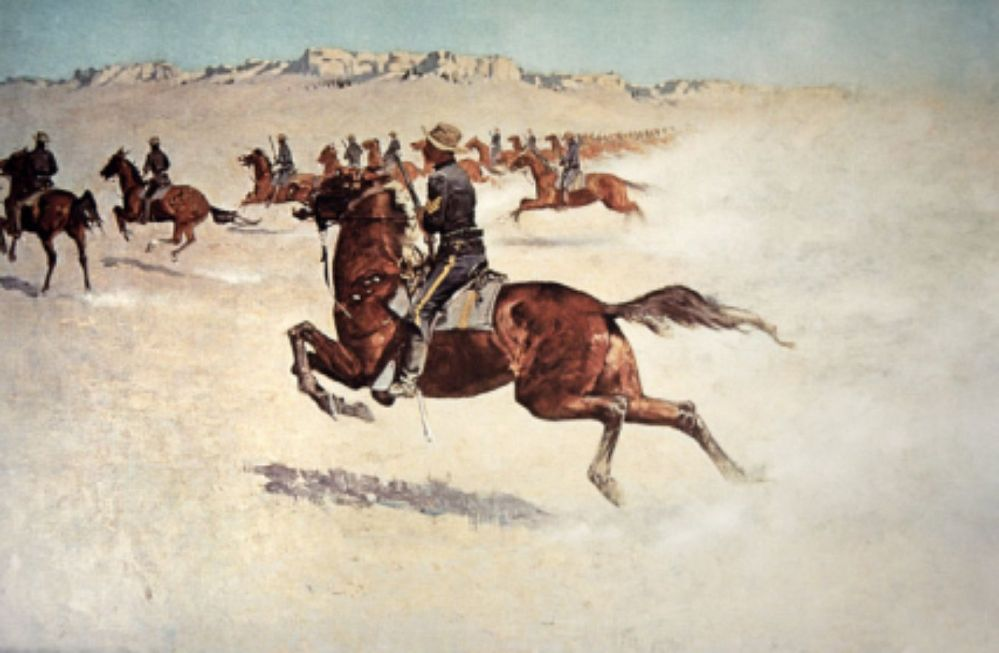 BUFFALO SOLDIER in pursuit - Frederick Remington