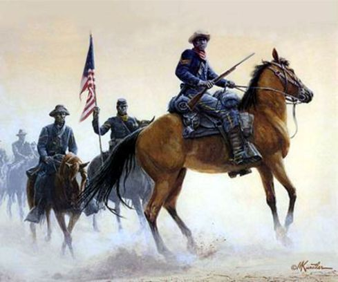 BUFFALO SOLDIERS OF THE WEST by Mort Kunstler