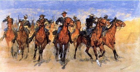 Captain Dodge's Colored Troops to the Rescue - Frederick Remington