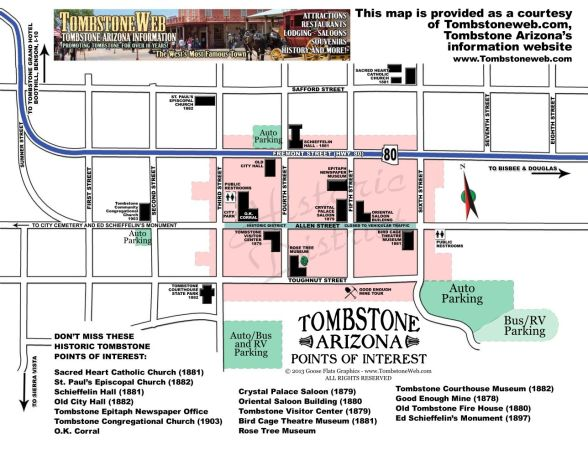 Downtown Tombstone Map