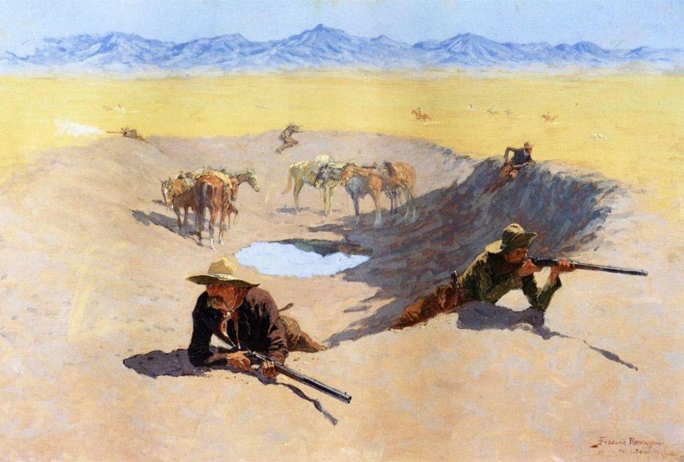Fight for the waterhole