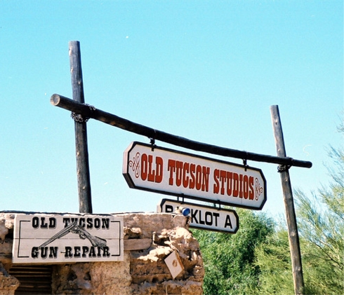 Old Tucson Studios sign