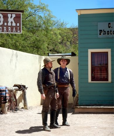 OK CORRAL REENACTMENT IKE and Claiborne