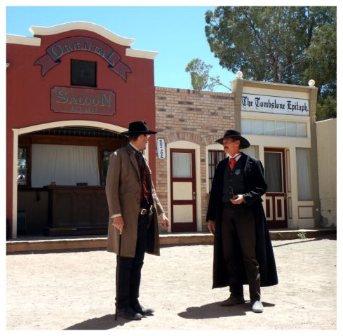 OK CORRAL REENACTMENT Wyatt & Doc