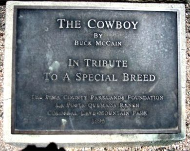 Colossal Ranch The Cowboy Plaque