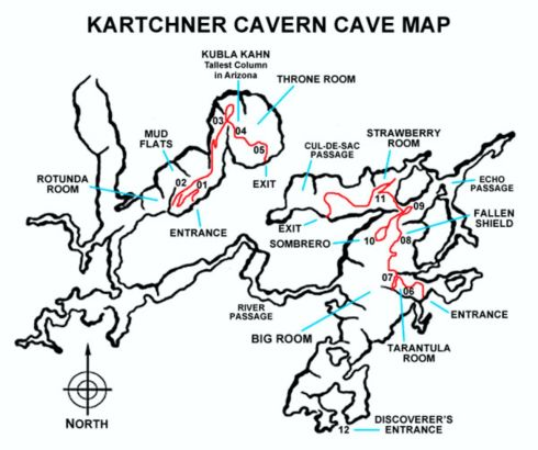 Karchner Caves map
