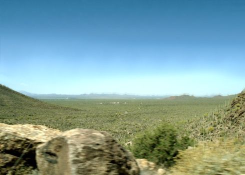 Old Tucson - Old Tuscon Studios in the distance