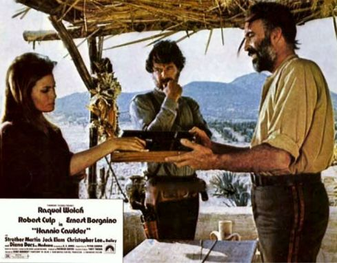 Raquel Welch, Robert Culp, Christopher Lee