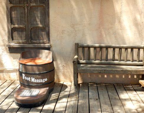 Old Tucson Studios foot massage