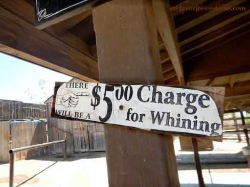Old Tucson Studios No Whining