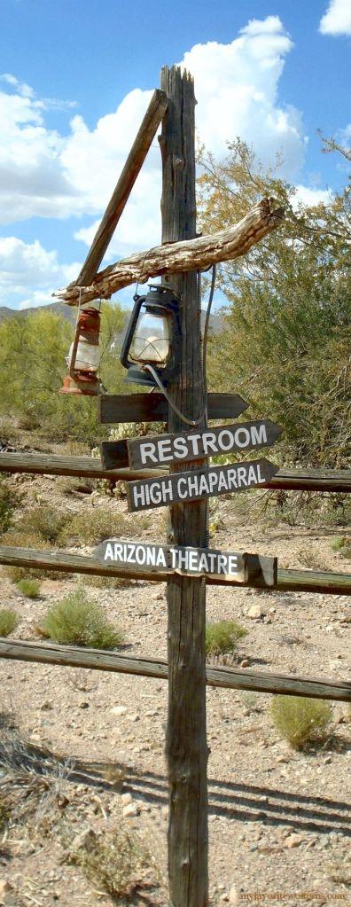 Old Tucson Studios Signpost